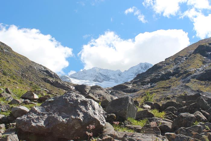 Bild von den Felsen auf dem Weg zur Greizer Hütte