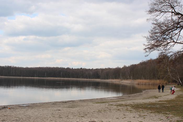 Am Strandbad Gorinsee: Bei schönes Wetter immer für eine Abkühlung gut