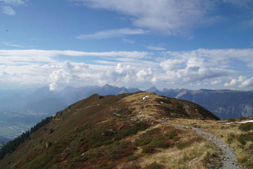 Abstieg Kellerjochhütte in Richtung Bergstation Kellerjochbahn (Hecherhaus)