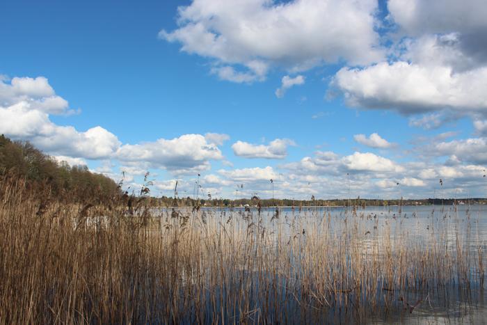 Eine der wenigen öffentlichen Stellen am Wandlitzsee: Der frei zugängliche Strand am Übergang zum Stolzenhagener See