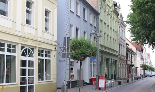 Foto von der Altstadt Ueckermünde