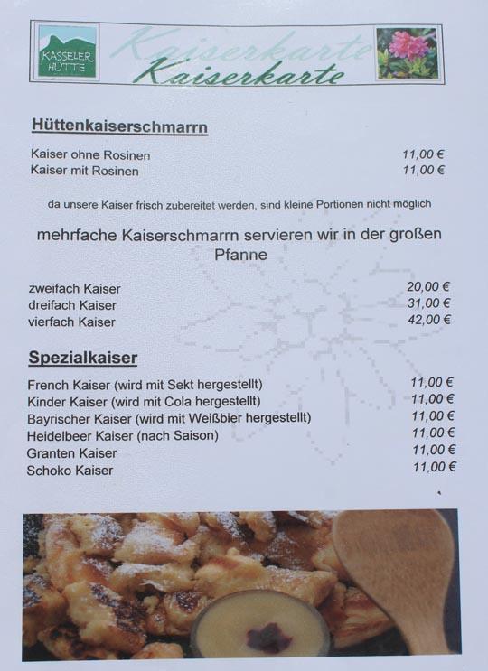 Kaiserkarte Kasseler Hütte