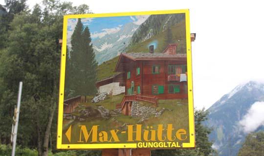 Wegweiser Maxhütte Zillertal