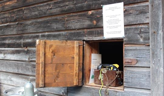Telefon Kasseler Hütte Materialseilbahn