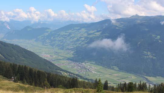 Ausblick von der Zillertaler Höhestraße