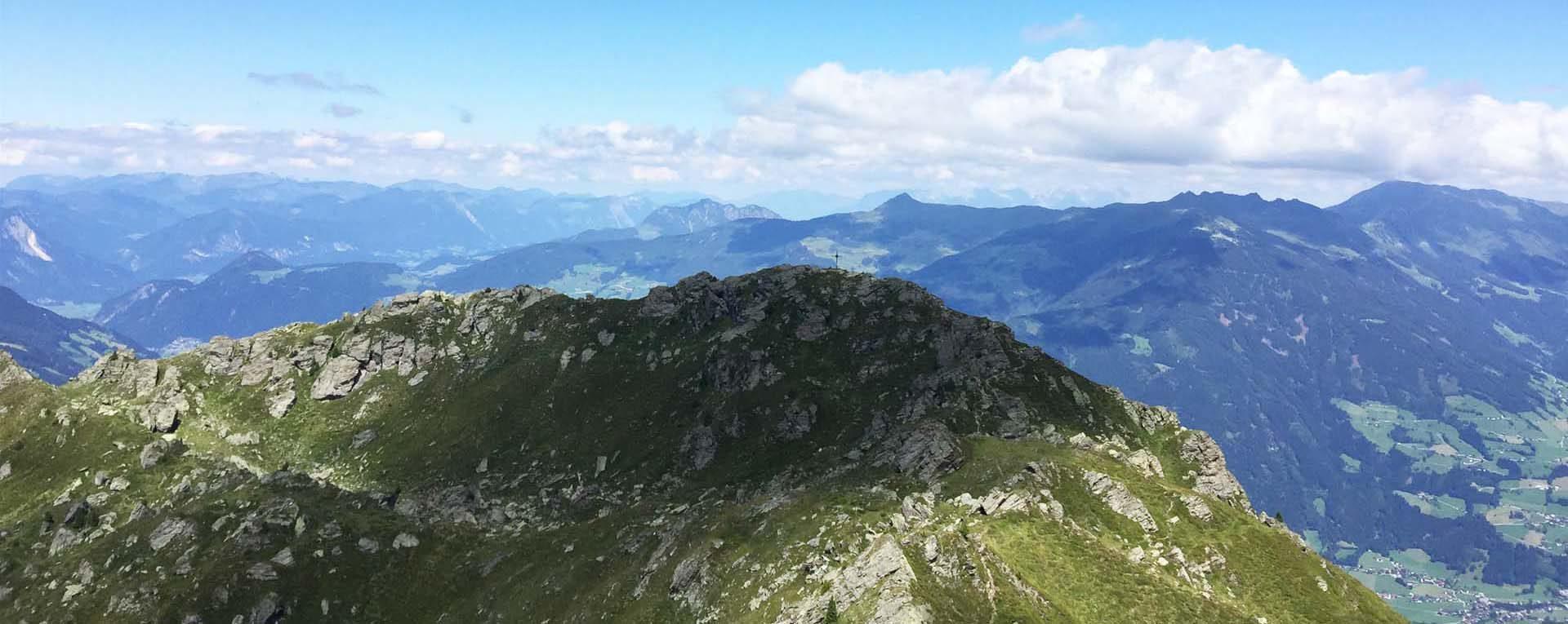 Blick auf Wetterkreuzspitze Zillertal