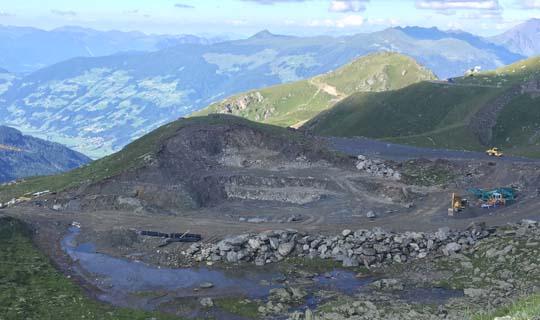 Baustelle Kaltenbacher Skigebiet