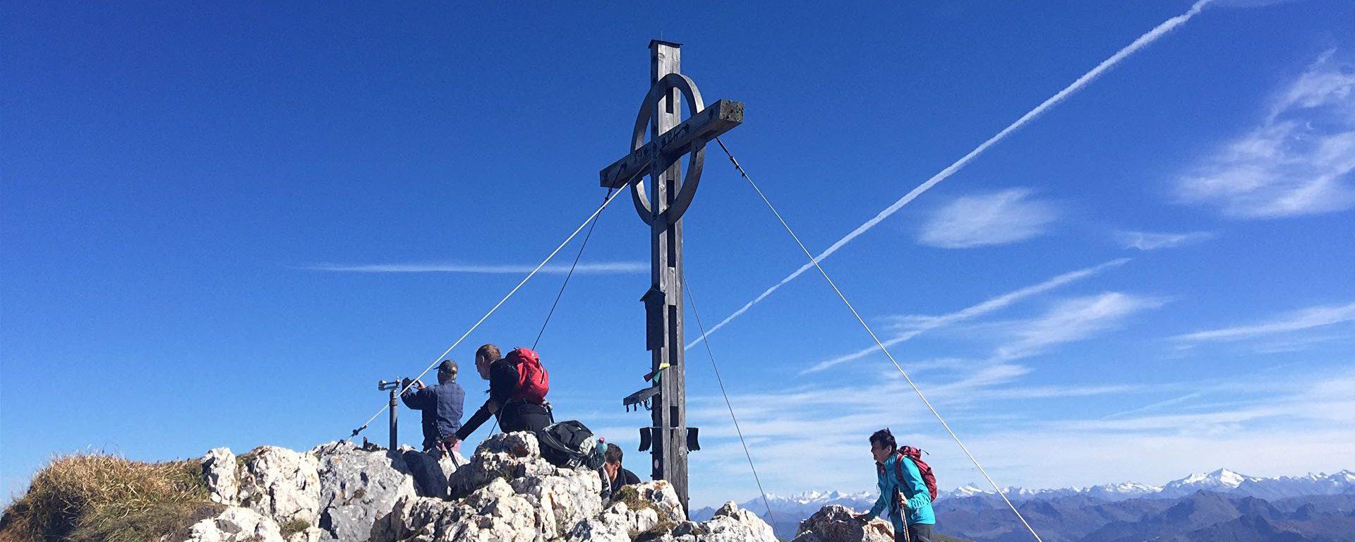 Hochiss Gipfelkreuz Achensee