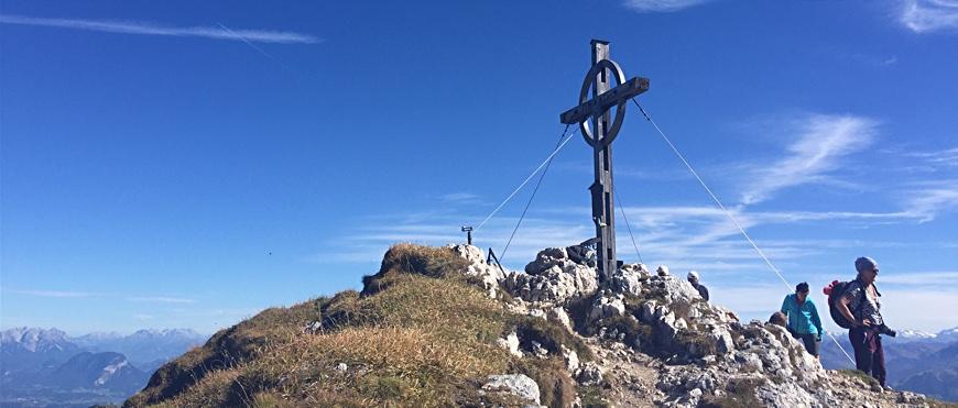 Gipfelkreuz des Hochiss Achensee