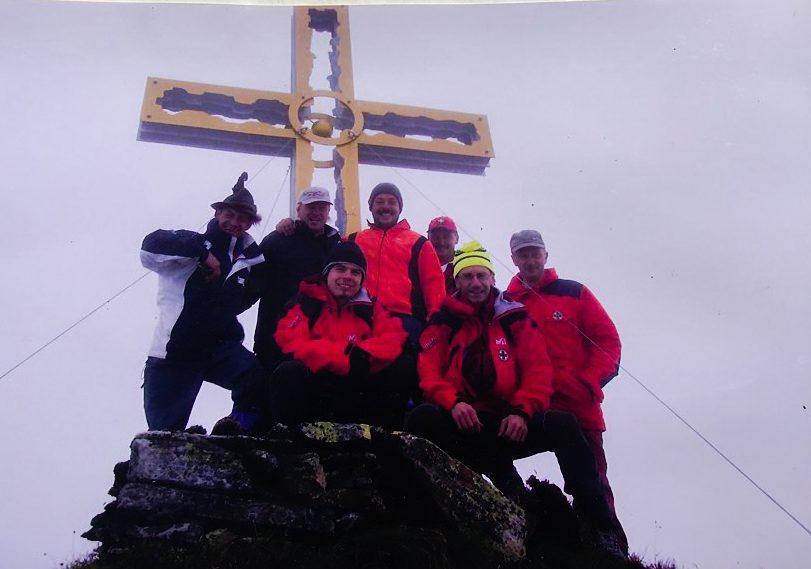 Errichtung Gaulkopf Gipfelkreuz 2006