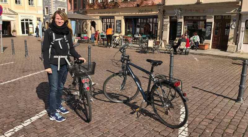 Mit Fahrrädern in Pirna