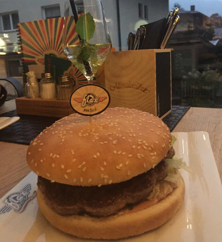 Burger im Flax Kaltenbach