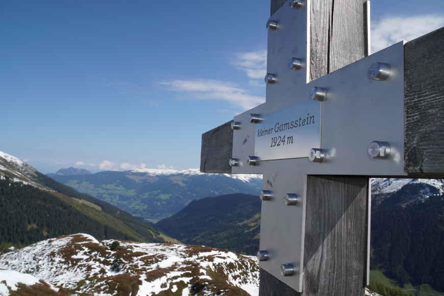 Gipfelkreuz kleiner Gamsstein Zillertal