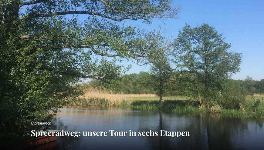 Beitragsbild Blogbeitrag Spreeradweg Tourenüberblick