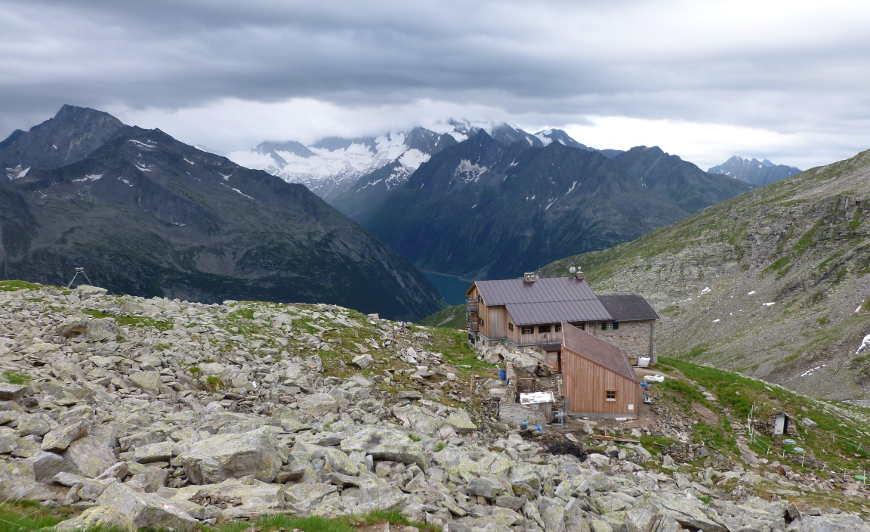 Friesenberghaus vom Petersköpferl aus