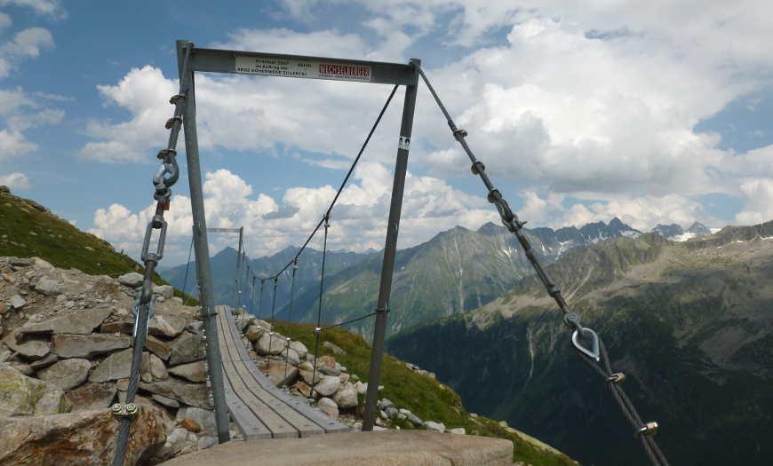 Hängebrücke an der Olpererhütte