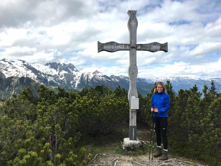 Arbiskogel im Zillertal Gipfelkreuz