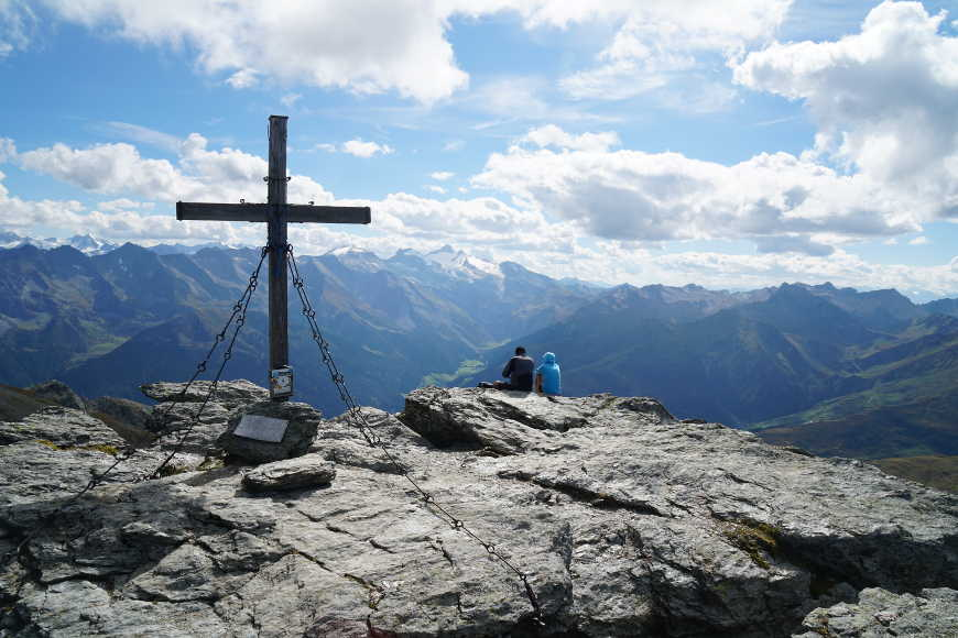 Gipfelkreuz des Rastkogels