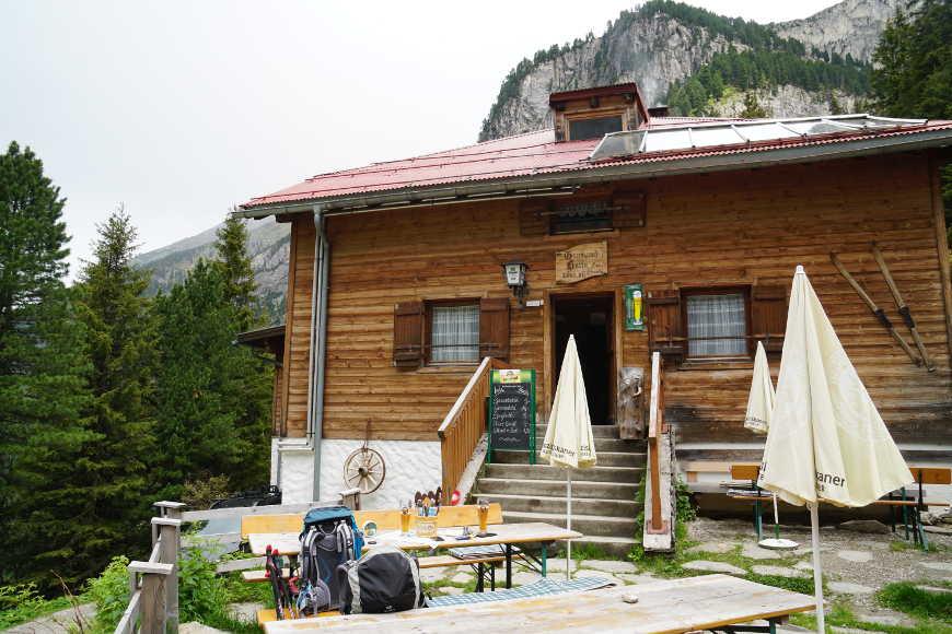 Grawandhütte Zillertal Terrasse