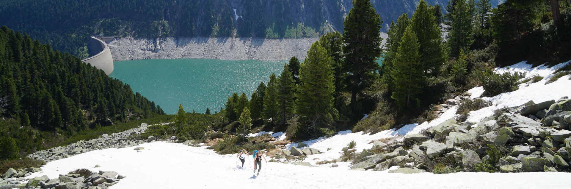 Schlegeis-Stausee Aufstieg Olperer Hütte