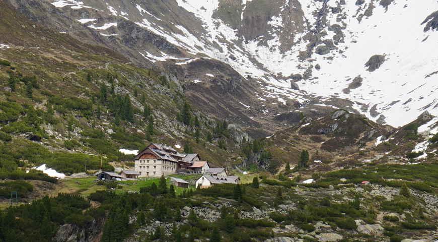 Zillertal Blick Berliner Hütte