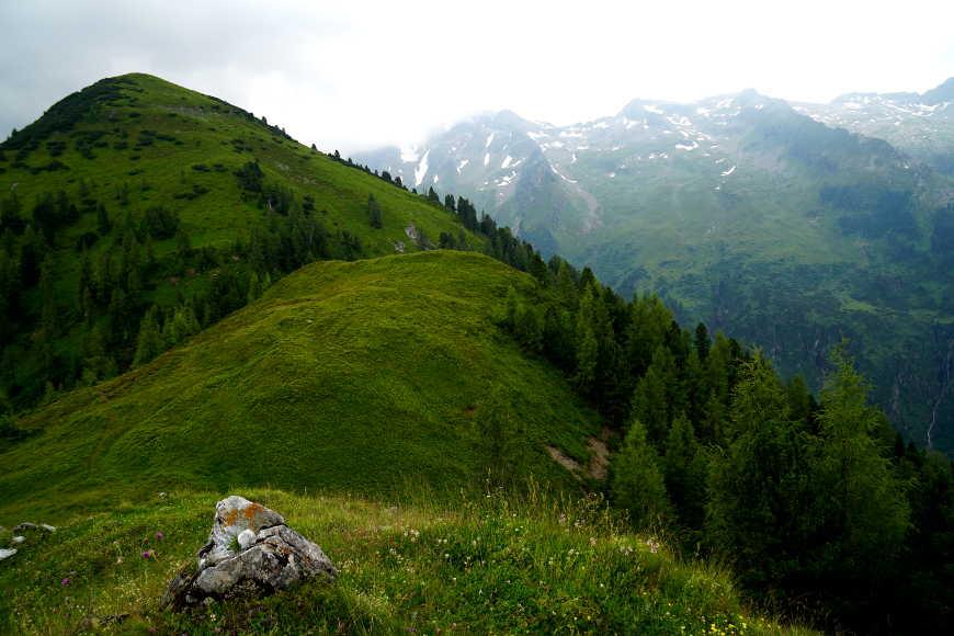 Blick vom Roller auf den Schafkogel im Zillertal