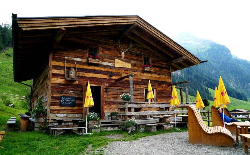 Klammer's Jausenhütte im Wimmertal