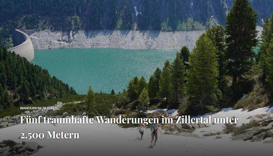 Beitragsbild Fünf traumhafte Wanderungen im Zillertal