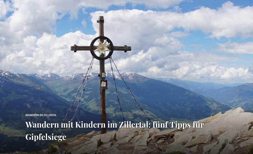 Beitragsbild Wandern mit Kindern im Zillertal