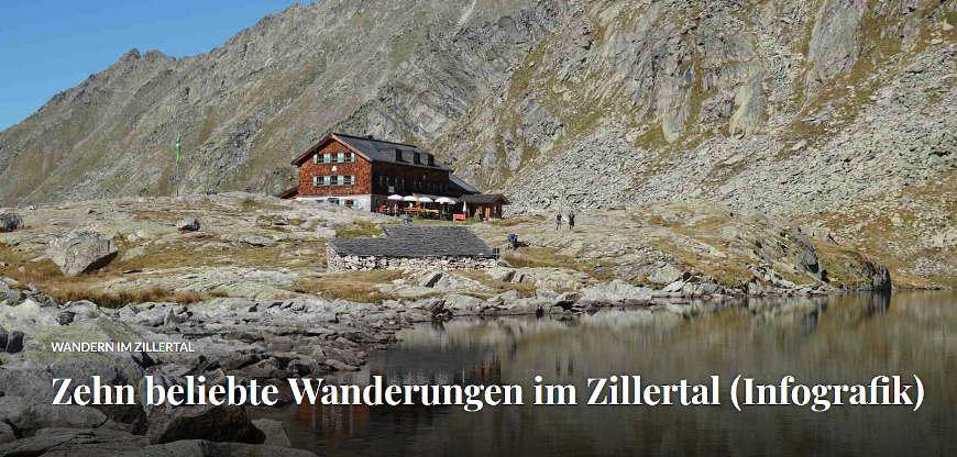 Titelbild Blogbeitrag 10 beliebte Wanderungen im Zillertal