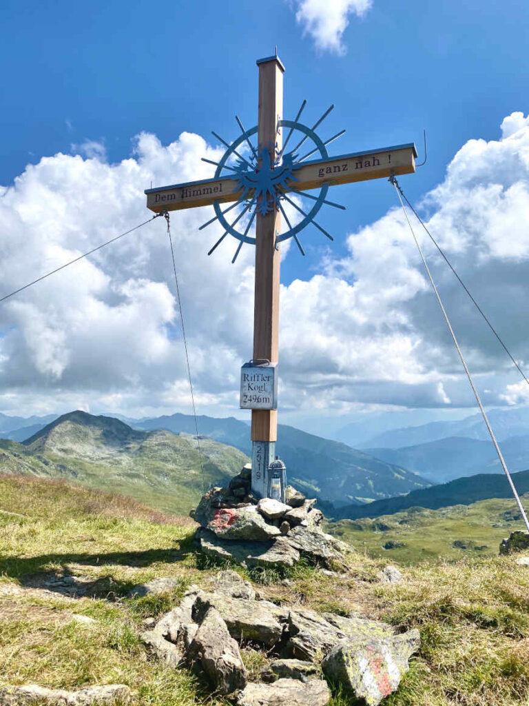 Rifflerkogel Zillertal Gipfelkreuz Wandern Gerlos Zell