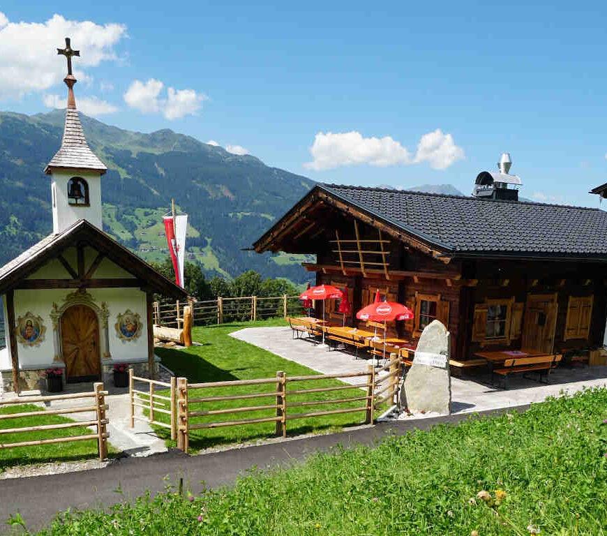 Stuana Hitte Distelberg Zillertal Wandern